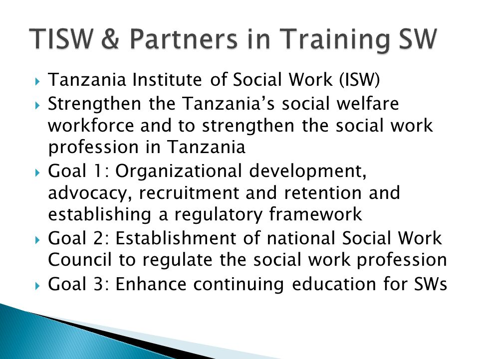 TISW & Partners in Training SW