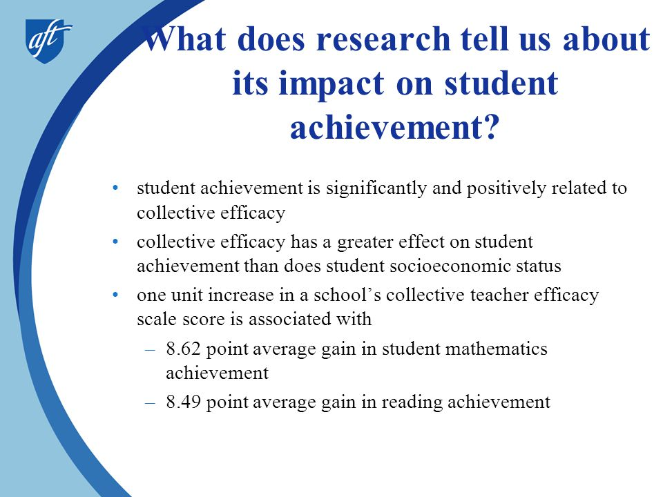 What does research tell us about its impact on student achievement