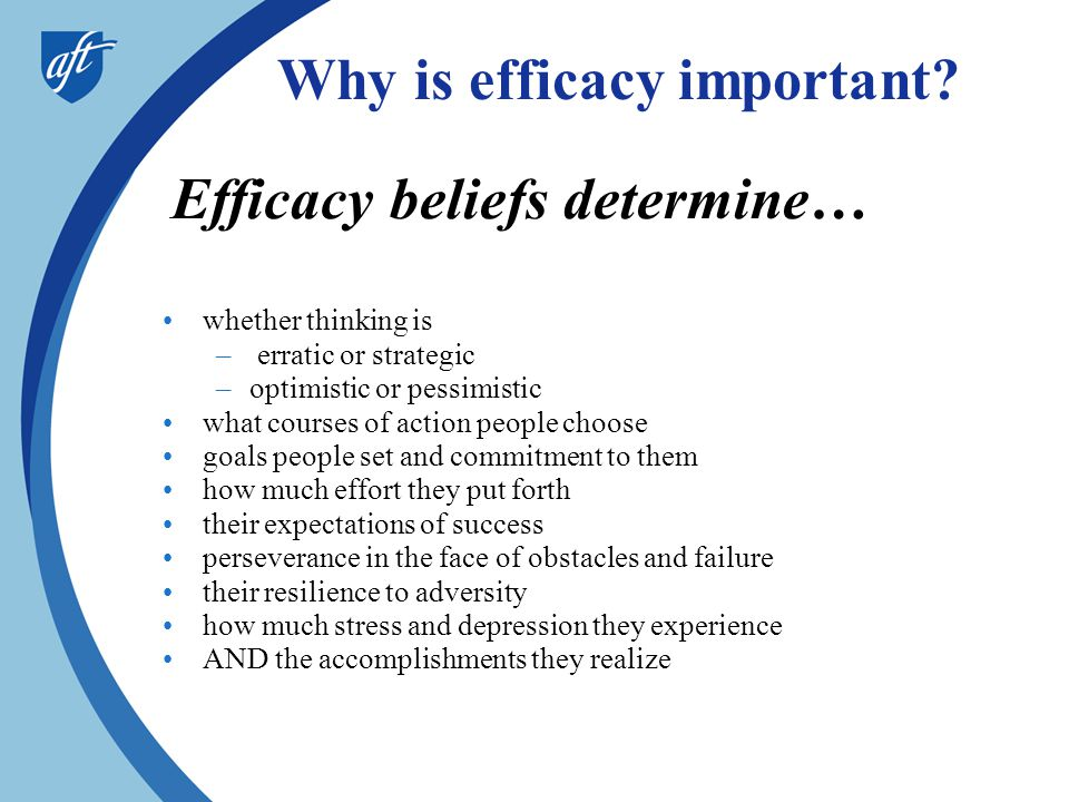 Why is efficacy important