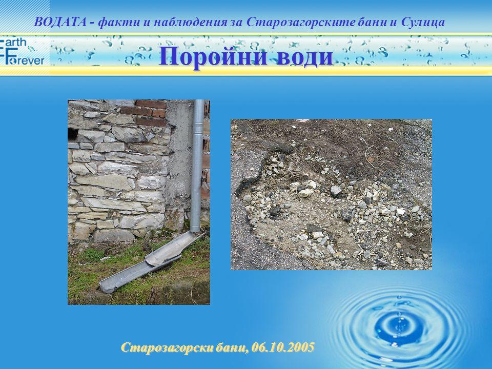 ВОДАТА - факти и наблюдения за Старозагорските бани и Сулица