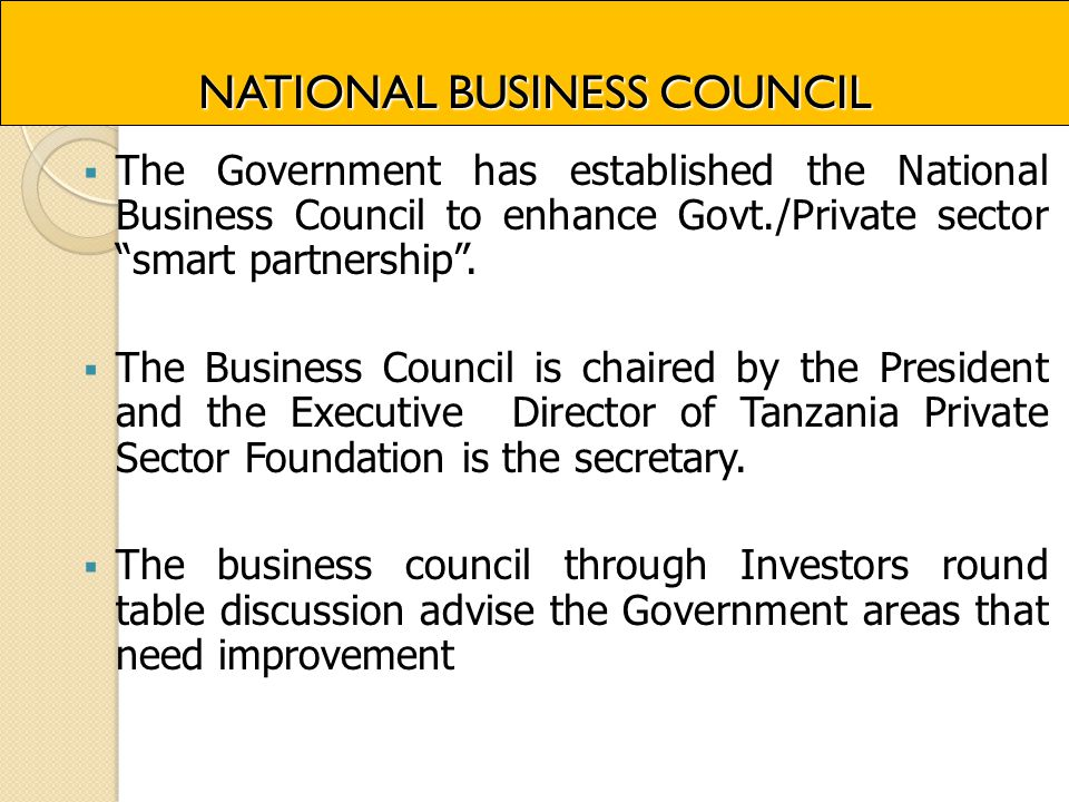 NATIONAL BUSINESS COUNCIL