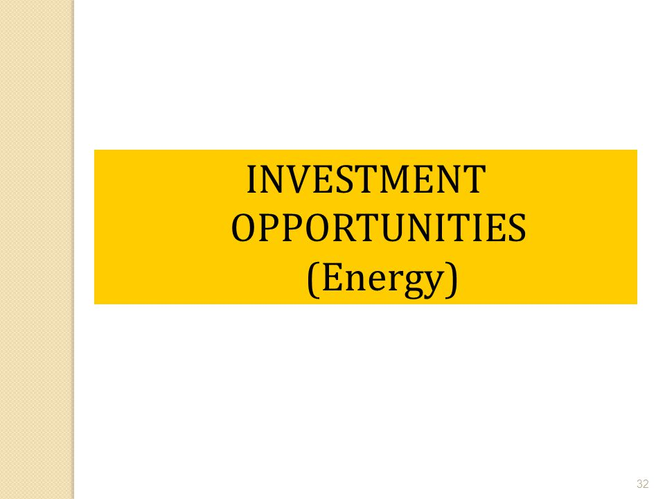 INVESTMENT OPPORTUNITIES (Energy)