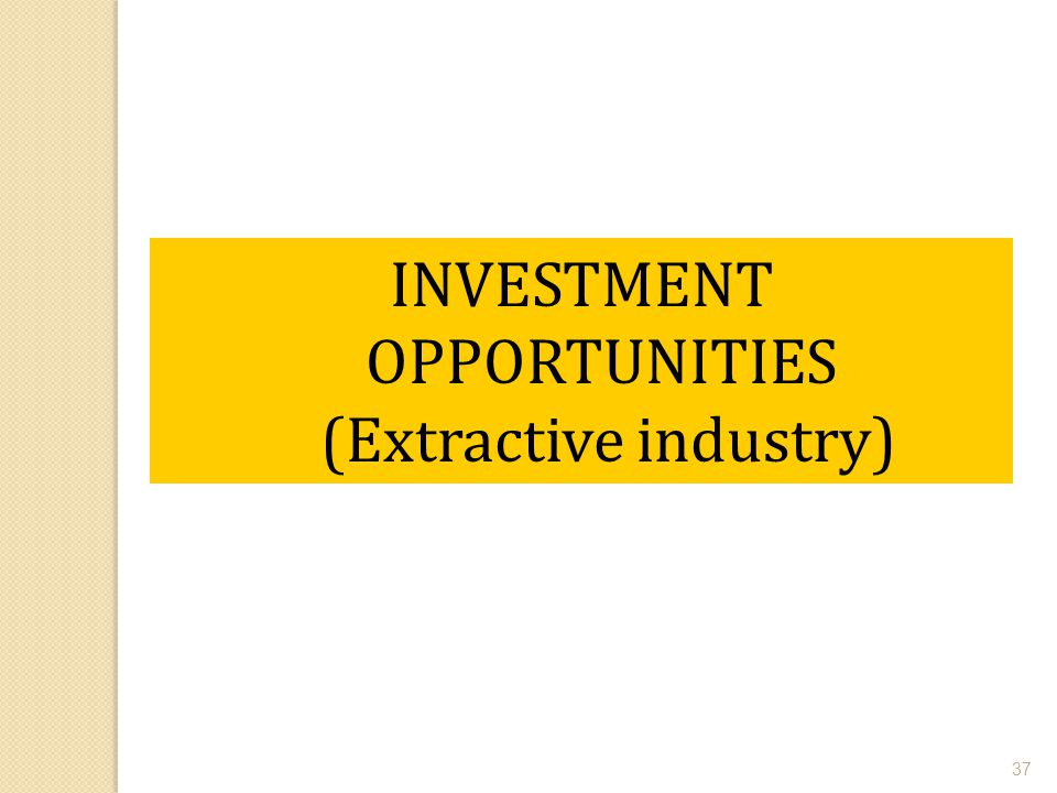 INVESTMENT OPPORTUNITIES (Extractive industry)