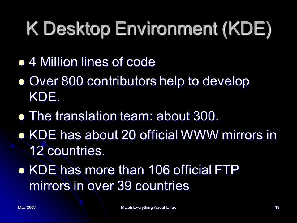 K Desktop Environment (KDE)