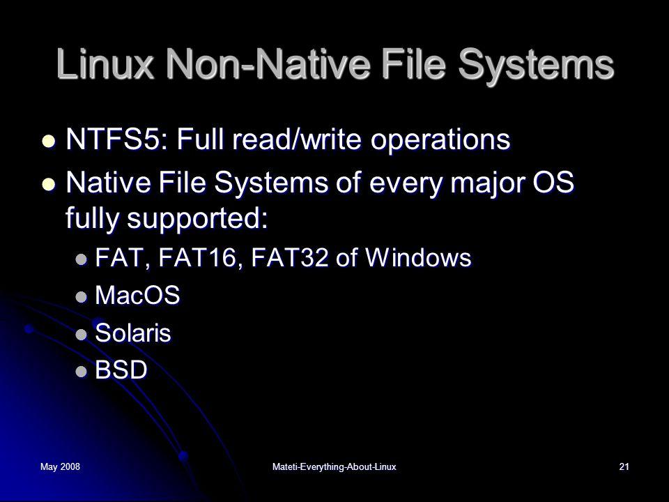 Linux Non-Native File Systems