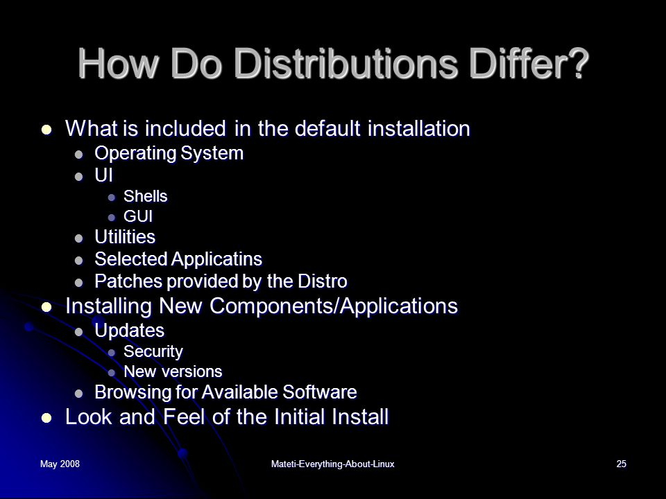 How Do Distributions Differ