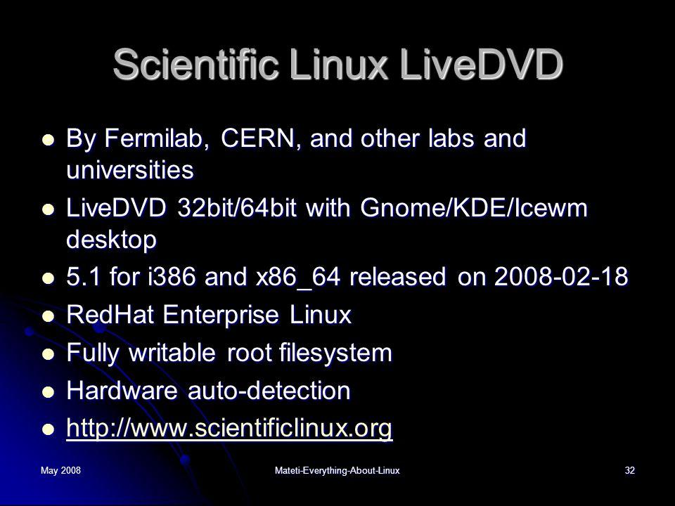 Scientific Linux LiveDVD