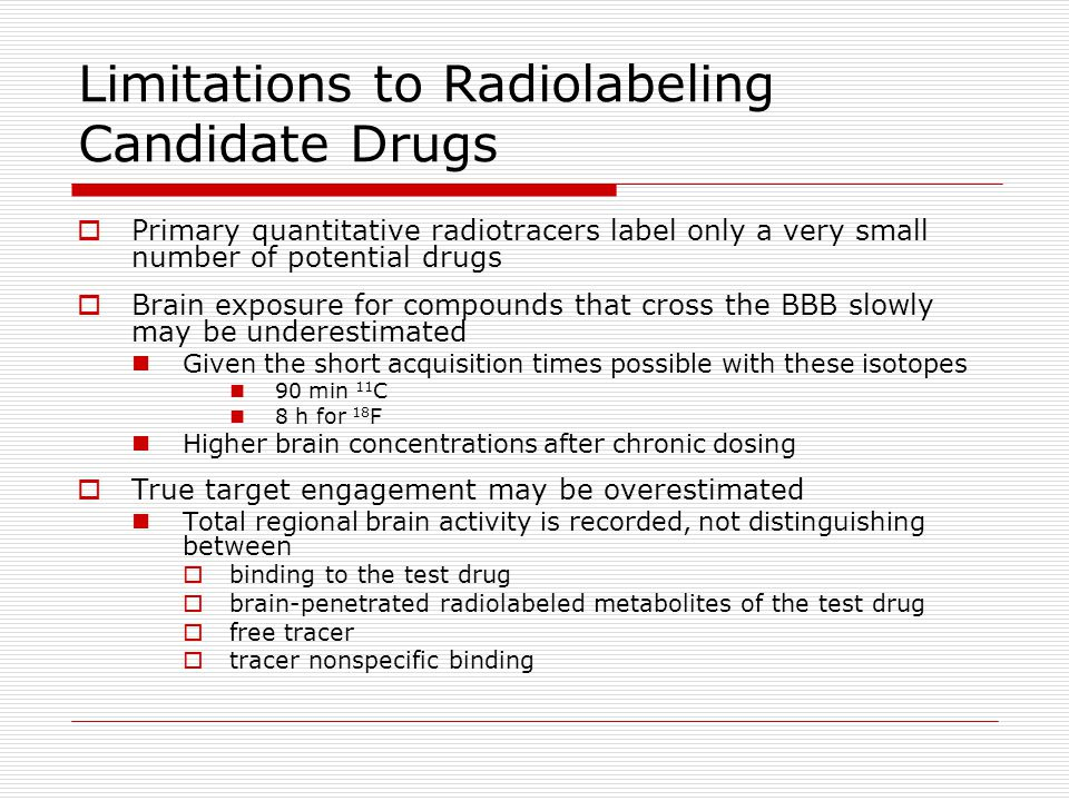 Limitations to Radiolabeling Candidate Drugs