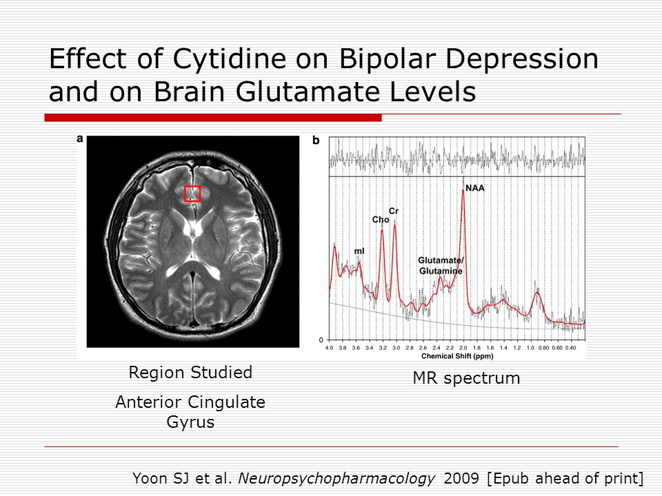 Effect of Cytidine on Bipolar Depression and on Brain Glutamate Levels