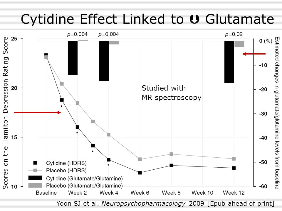 Cytidine Effect Linked to  Glutamate