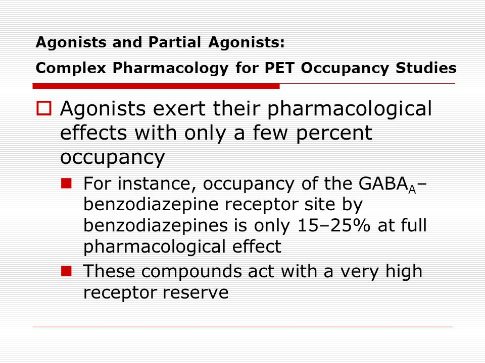 Agonists and Partial Agonists: Complex Pharmacology for PET Occupancy Studies