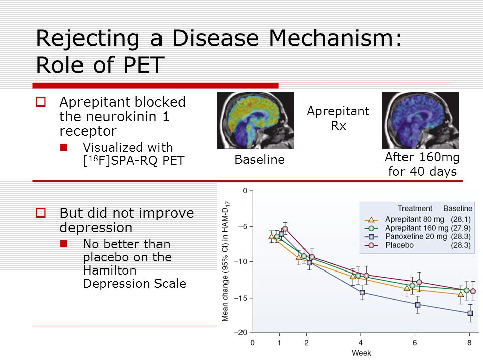 Rejecting a Disease Mechanism: Role of PET