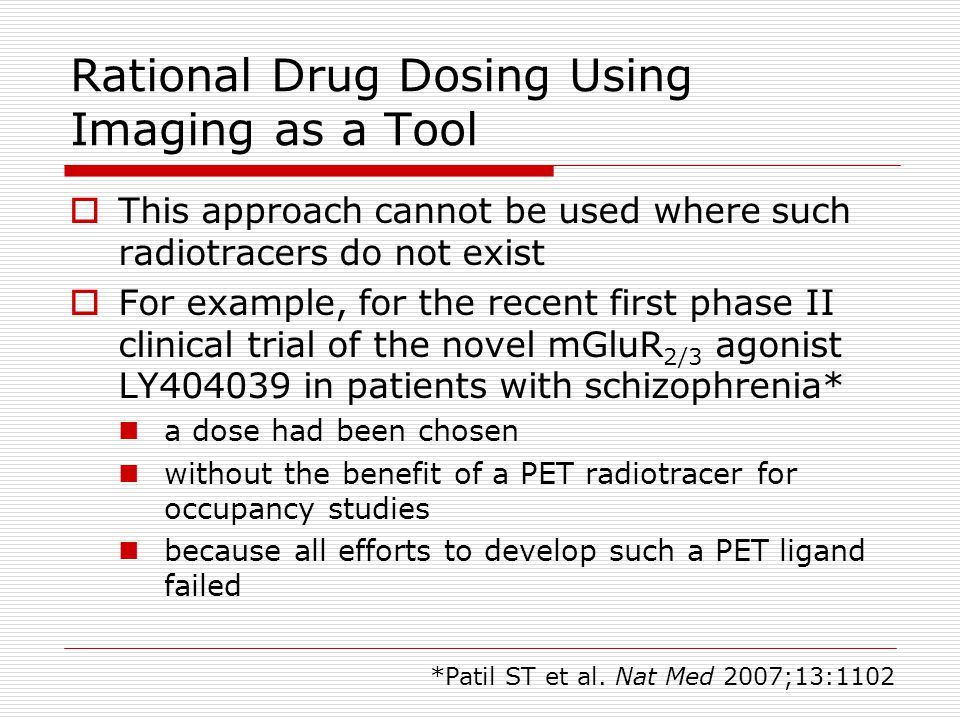 Rational Drug Dosing Using Imaging as a Tool