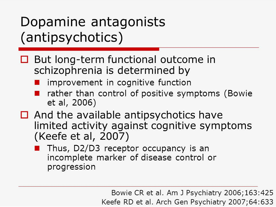 Dopamine antagonists (antipsychotics)