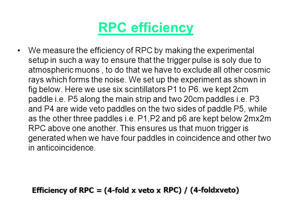 RPC efficiency