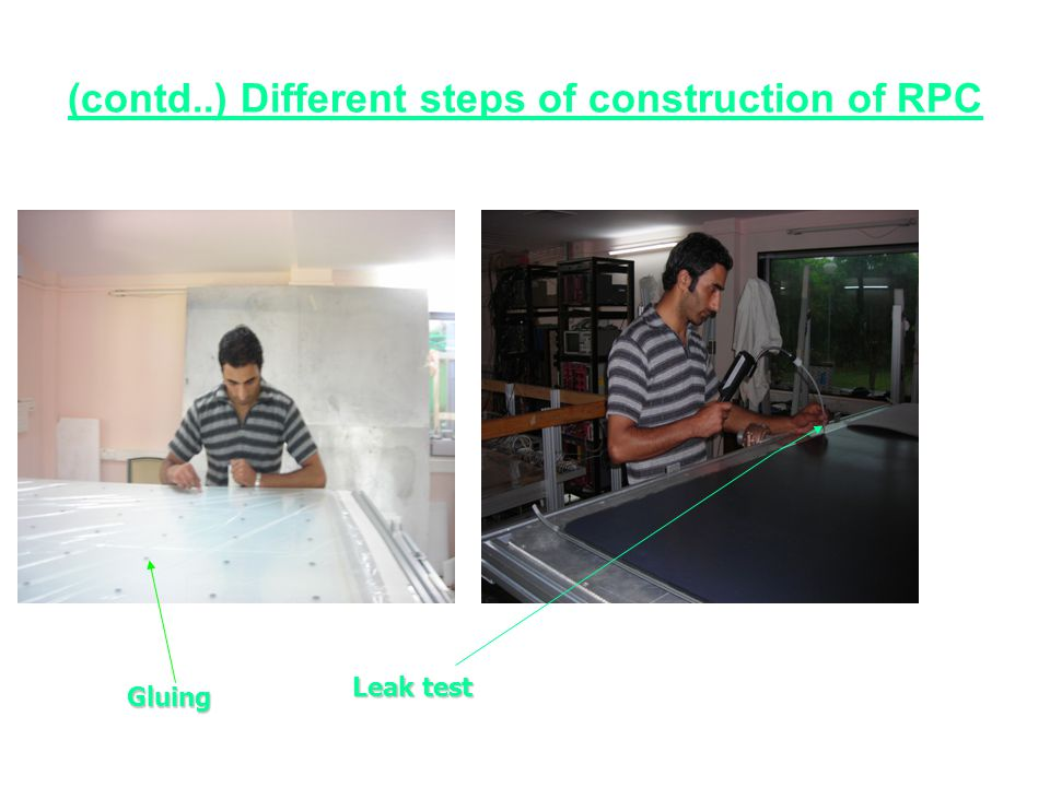 (contd..) Different steps of construction of RPC