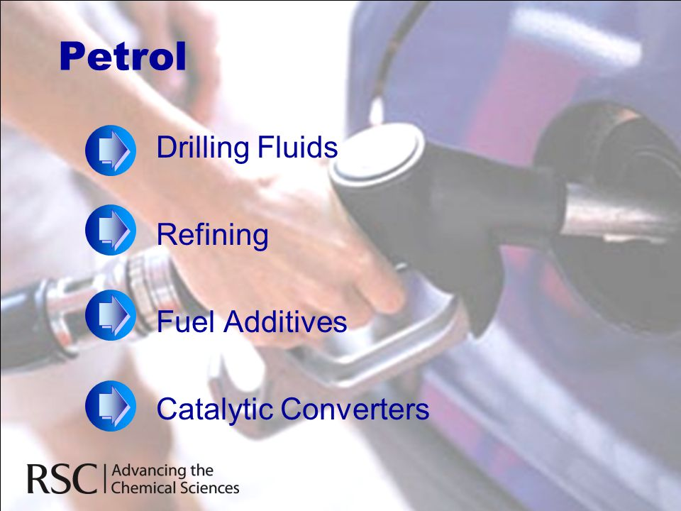 Petrol Drilling Fluids Refining Fuel Additives Catalytic Converters