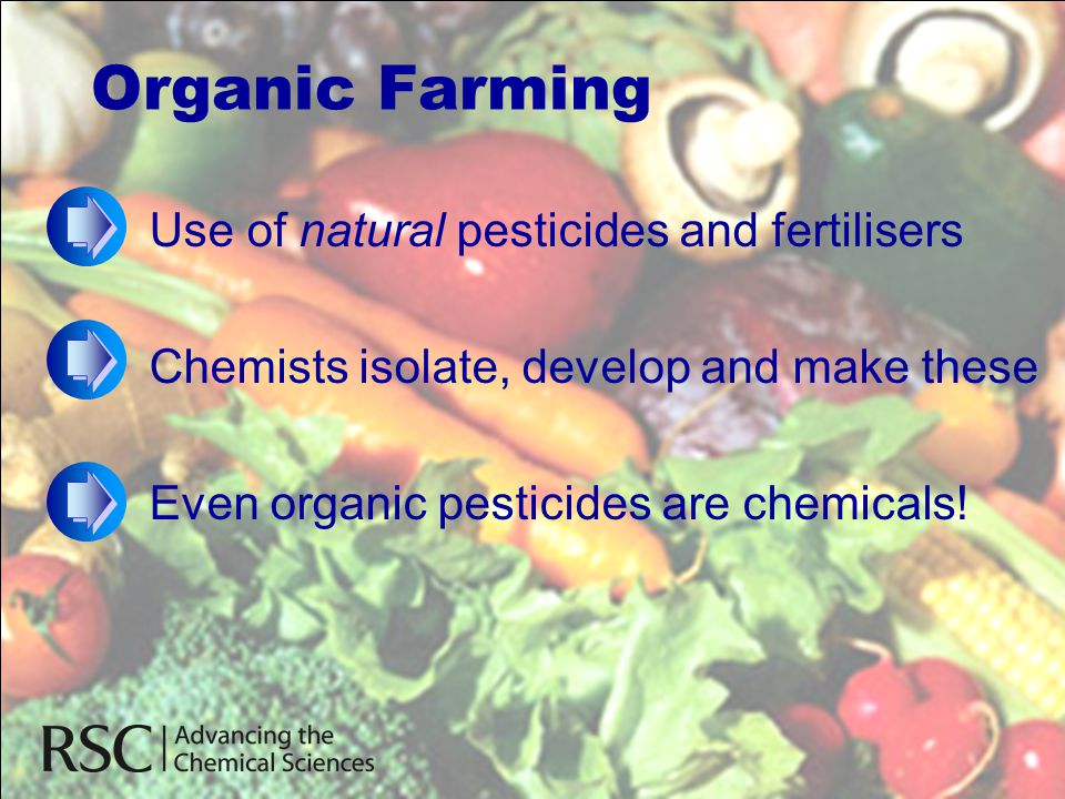 Organic Farming Use of natural pesticides and fertilisers