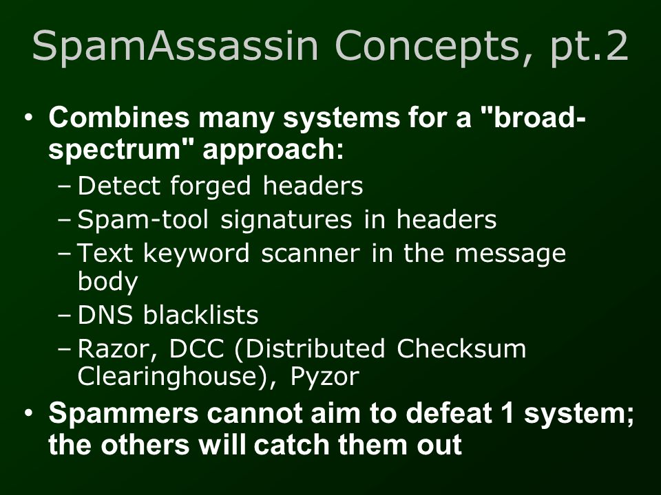 SpamAssassin Concepts, pt.2