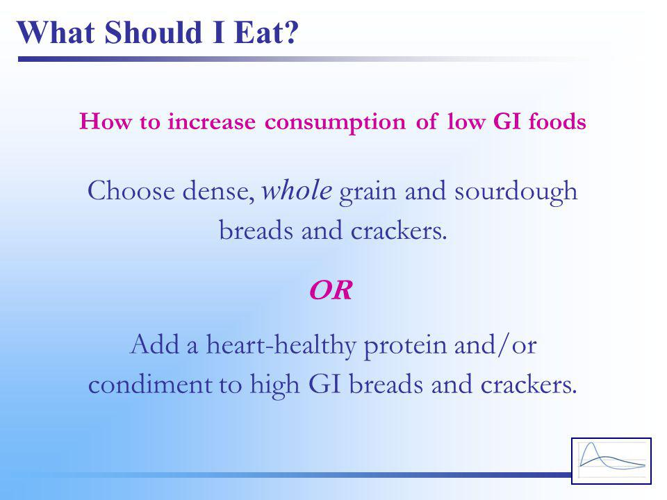 How to increase consumption of low GI foods