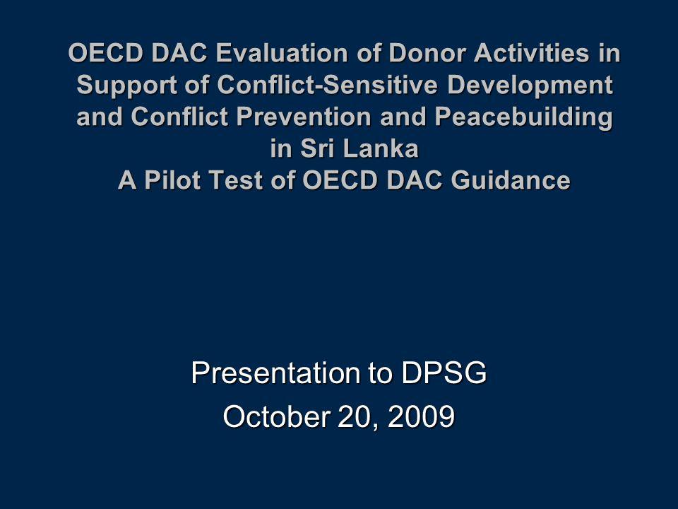 Presentation to DPSG October 20, 2009