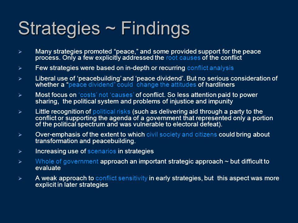 Strategies ~ Findings