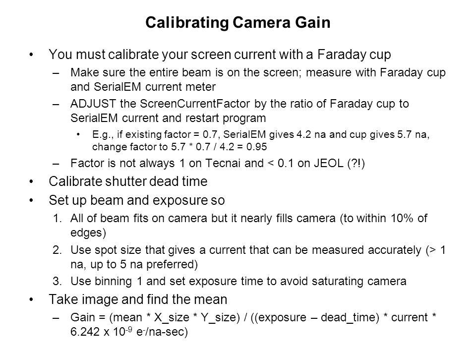 Calibrating Camera Gain