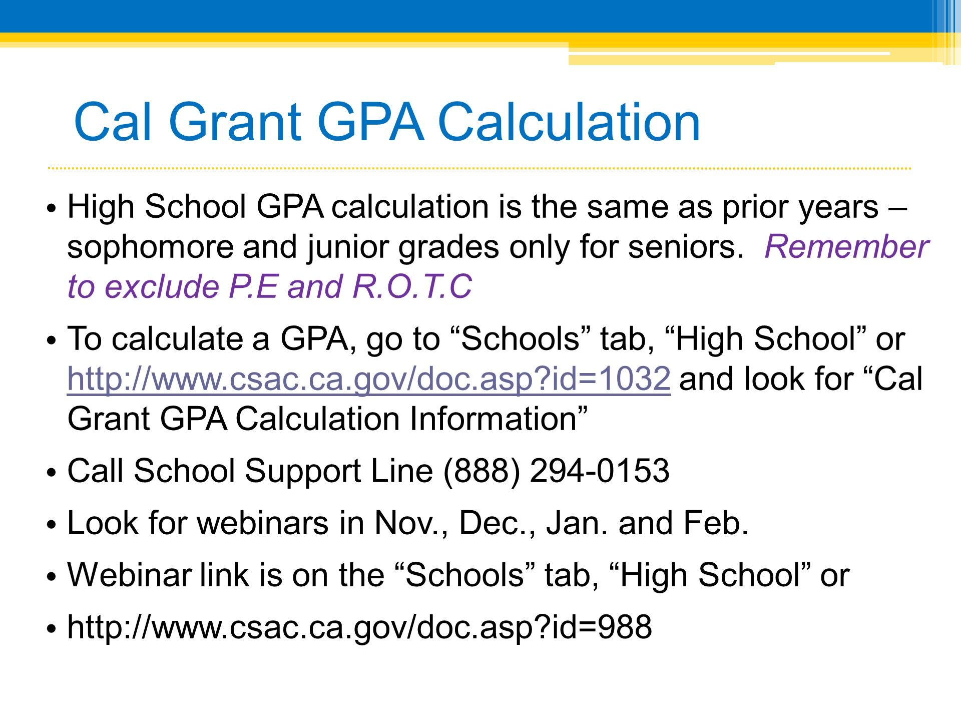 Cal Grants Overview Presented by the California Student Aid ...