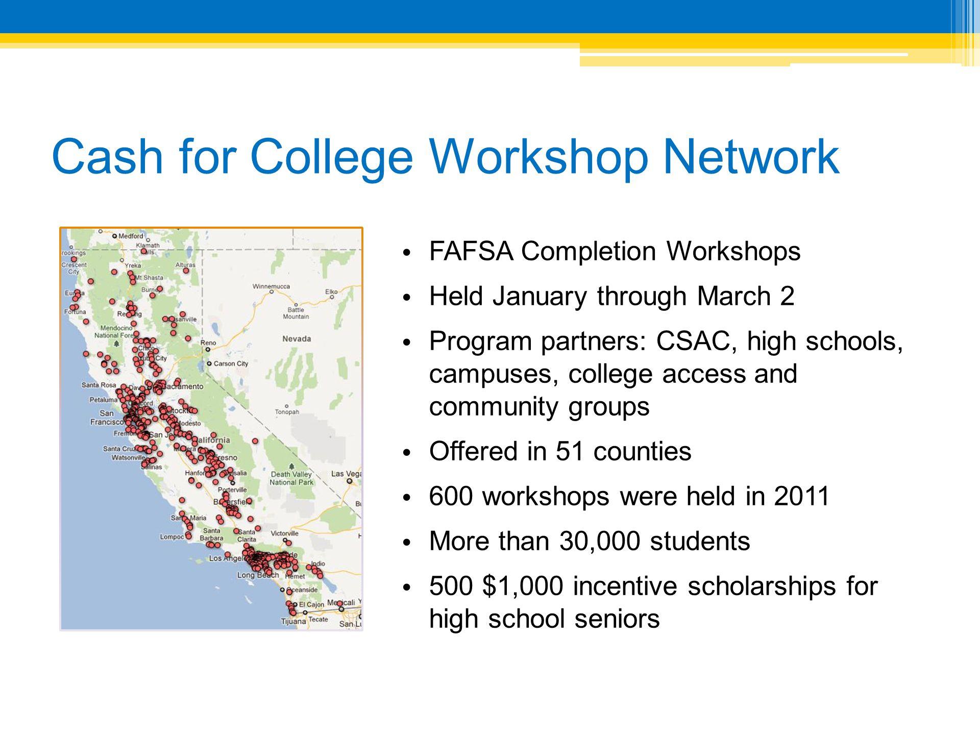 Cash for College Workshop Network