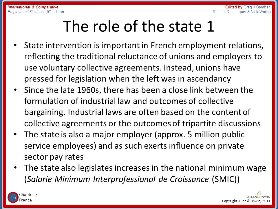The role of the state 1