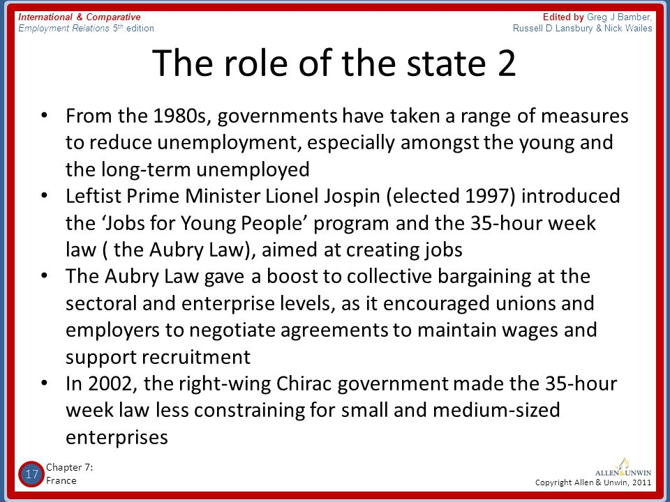The role of the state 2