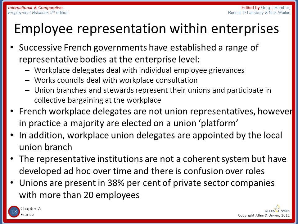 Employee representation within enterprises