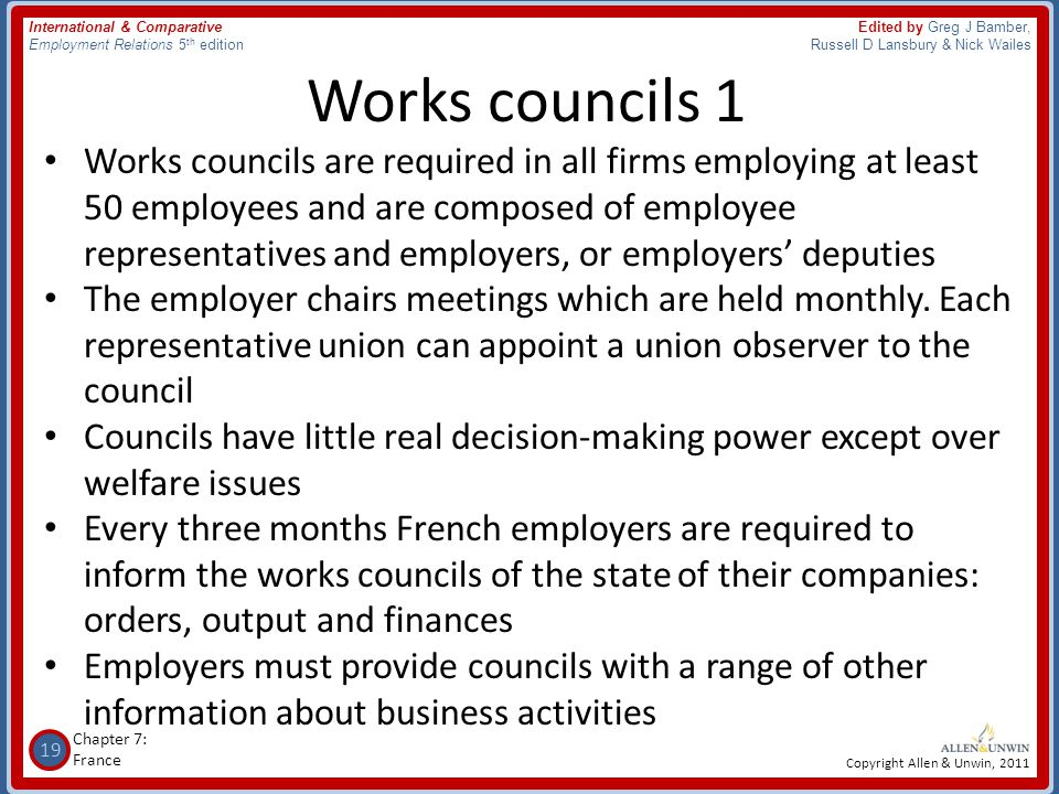 Works councils 1