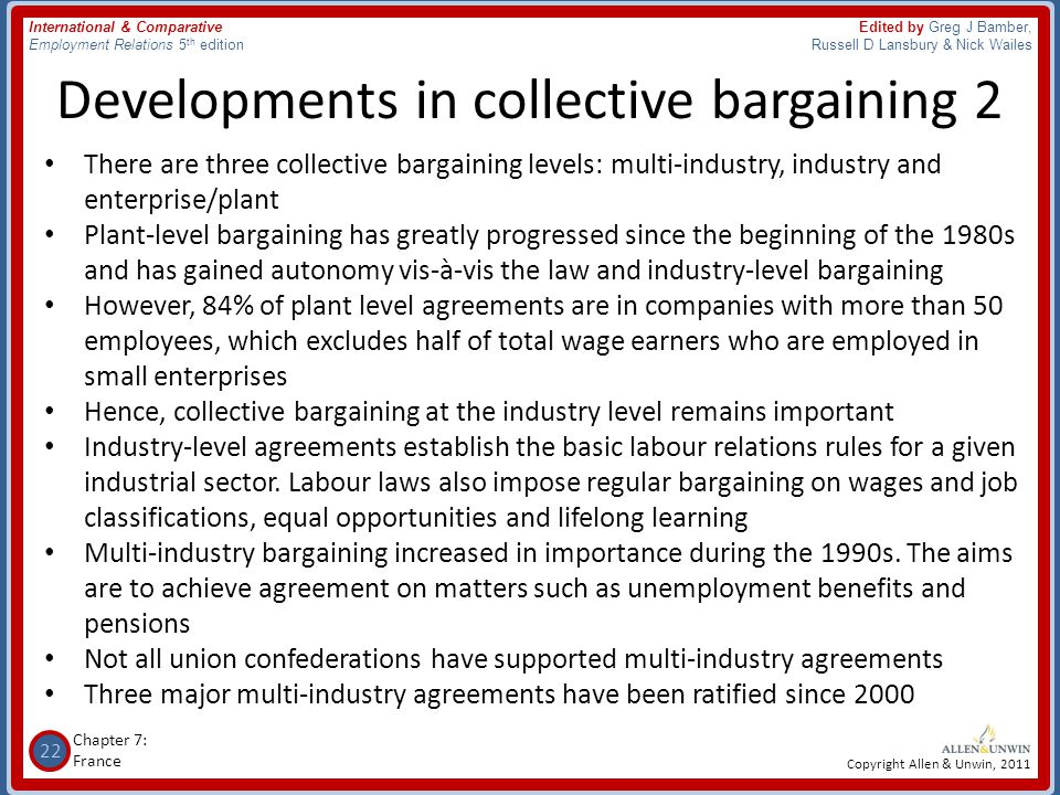 Developments in collective bargaining 2