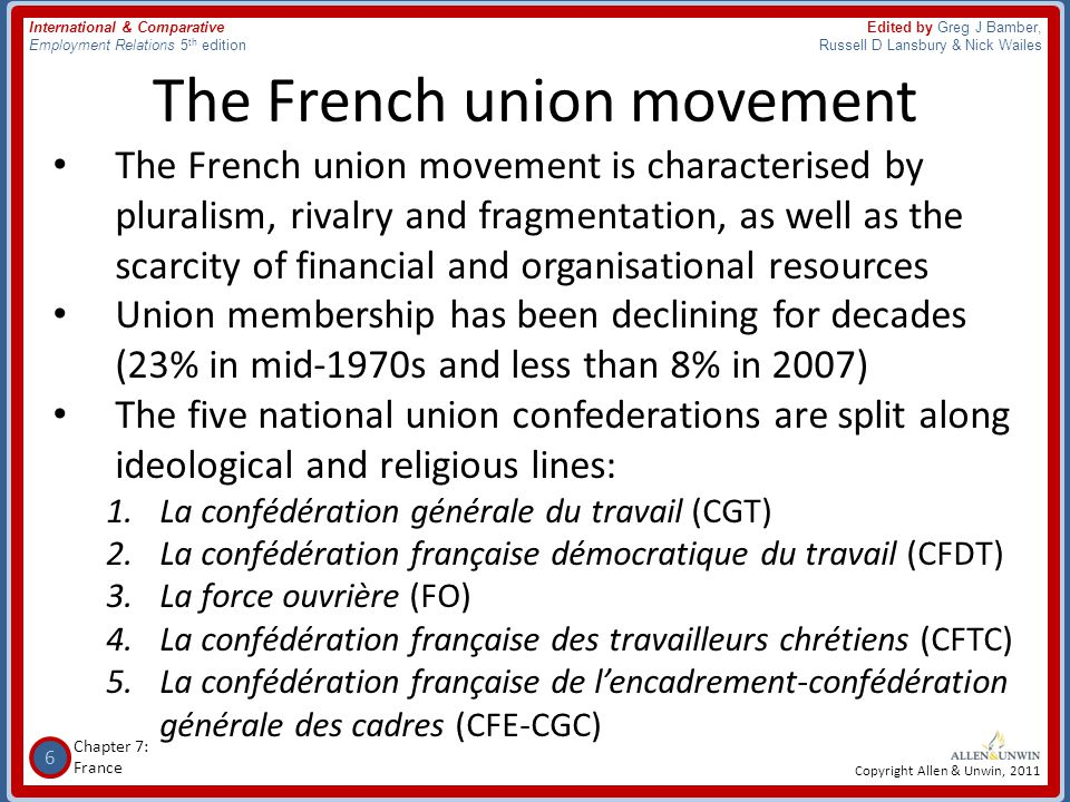 The French union movement