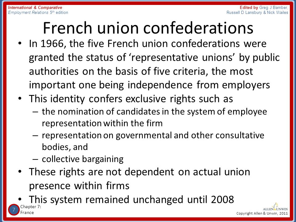 French union confederations
