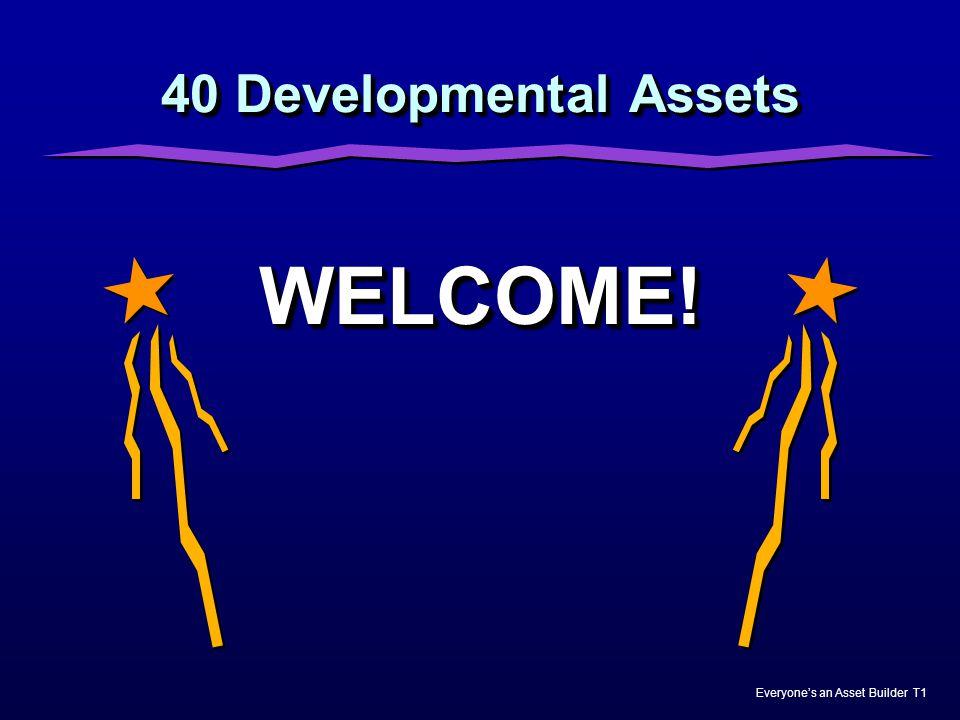 40 Developmental Assets WELCOME! Nicole