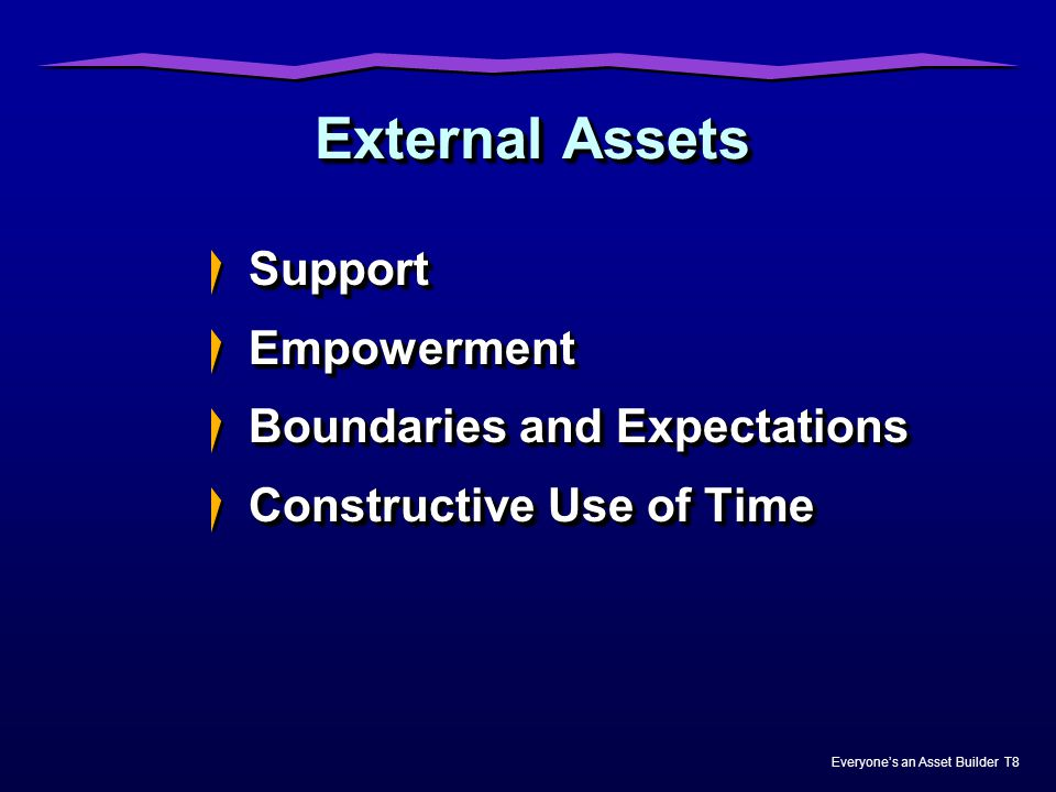 External Assets Support Empowerment Boundaries and Expectations
