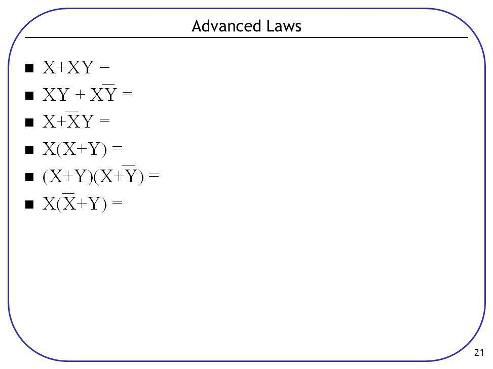 Advanced Laws