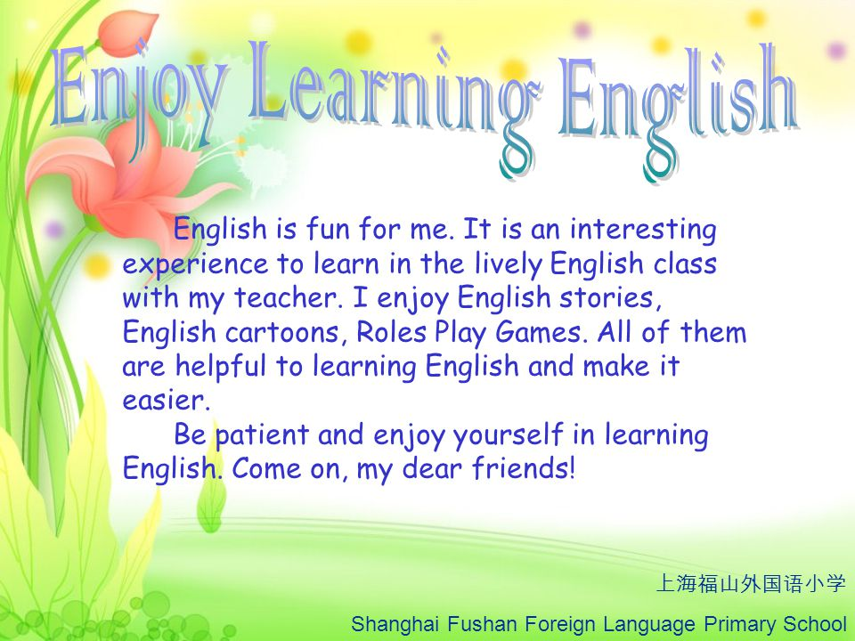 Enjoy Learning English