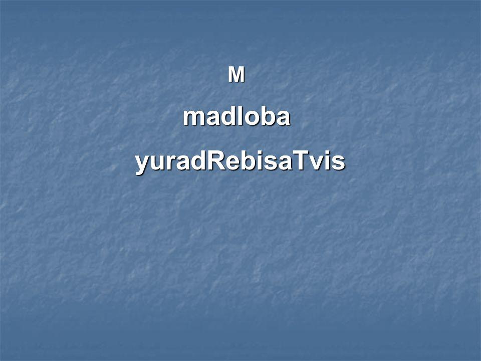 madloba yuradRebisaTvis