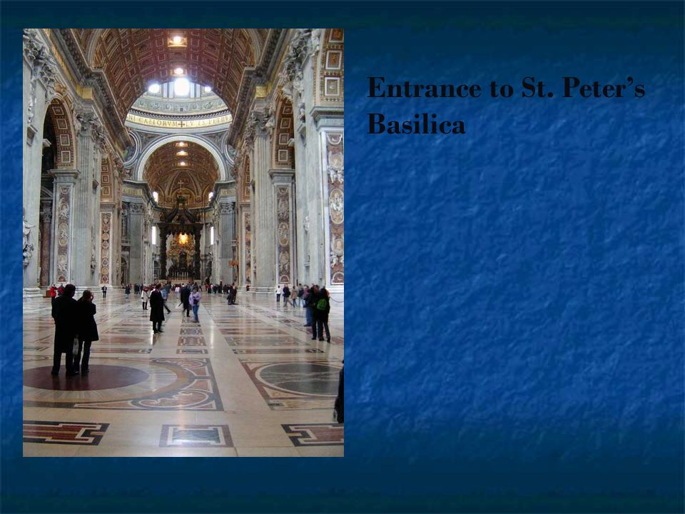 Entrance to St. Peter's Basilica
