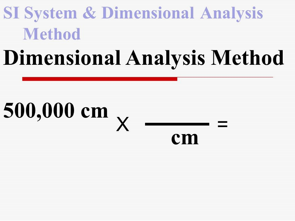 SI System & Dimensional Analysis Method