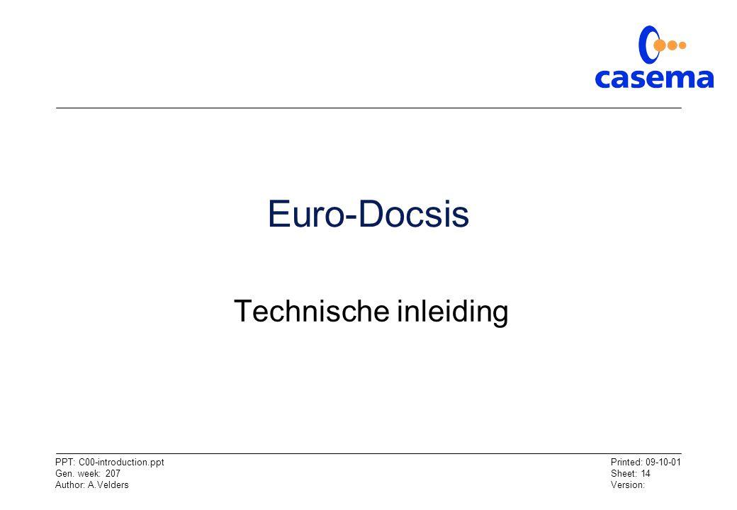 Euro-Docsis Technische inleiding
