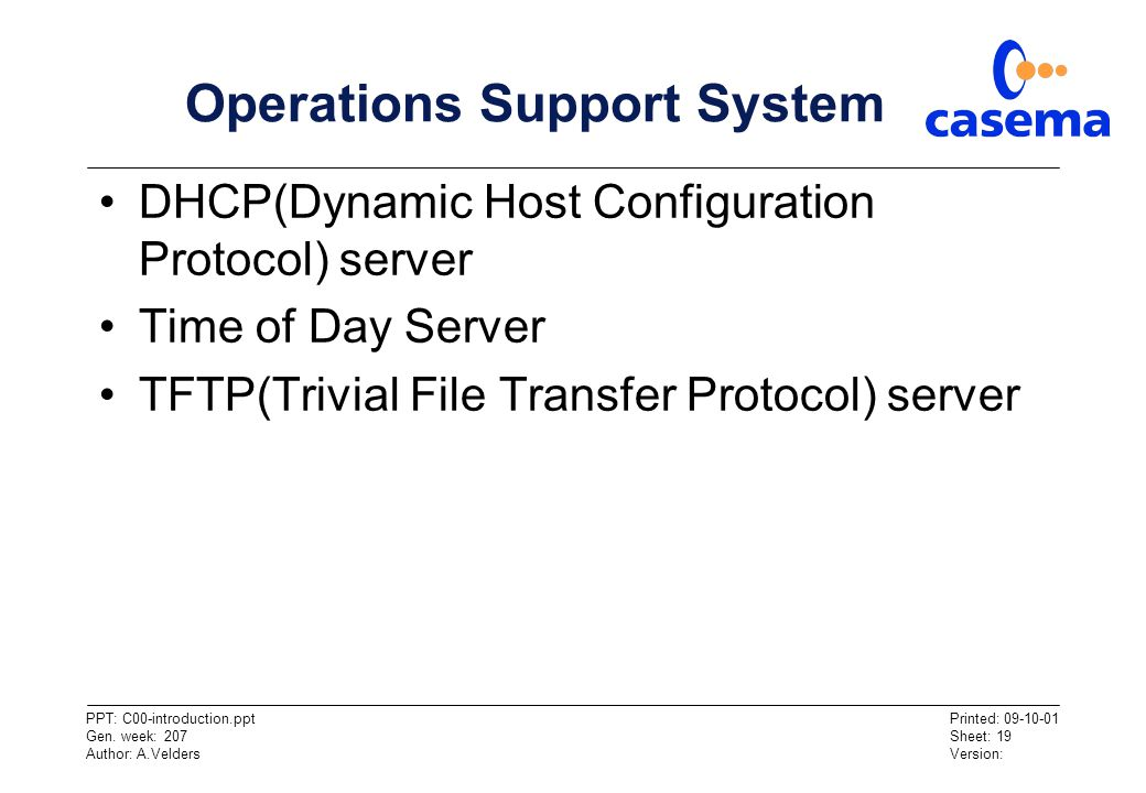 Operations Support System