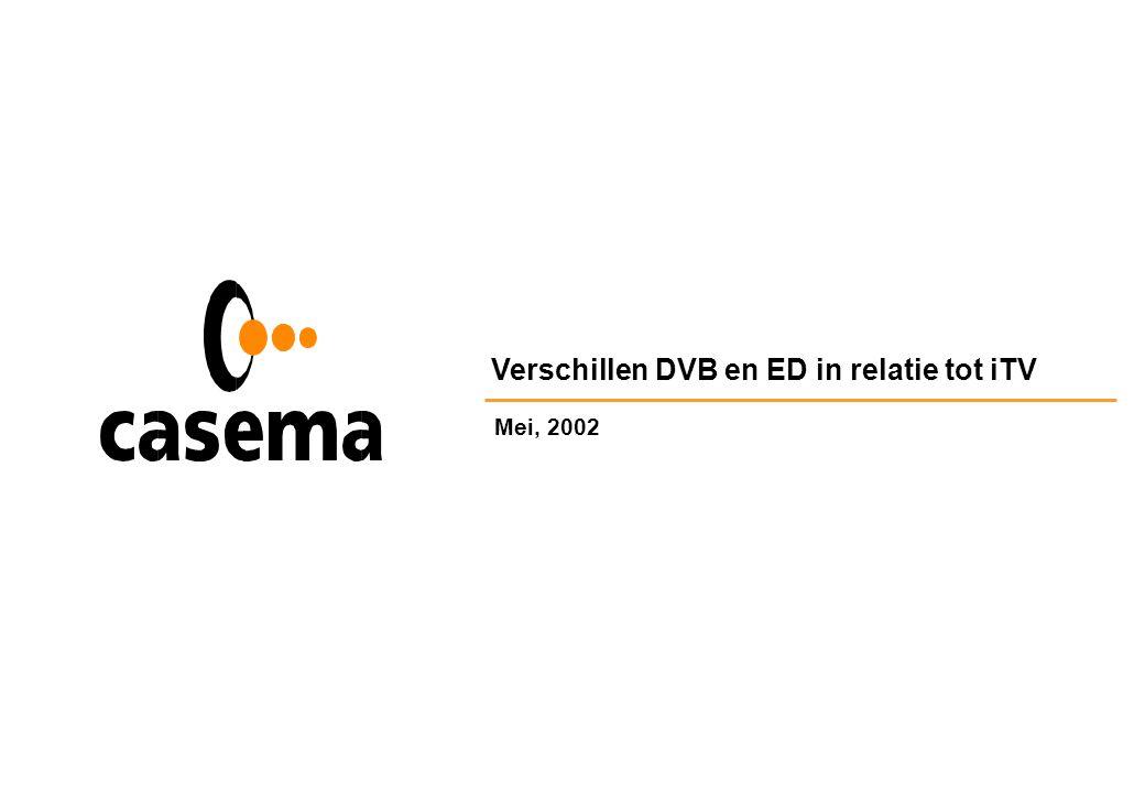 Verschillen DVB en ED in relatie tot iTV