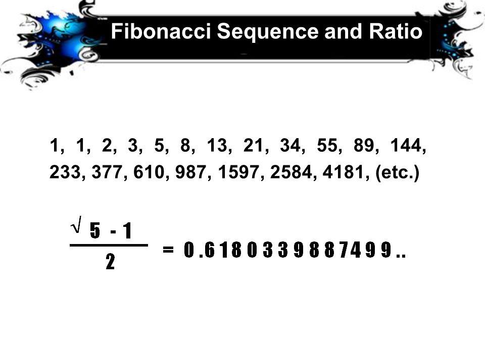 Fibonacci Sequence and Ratio