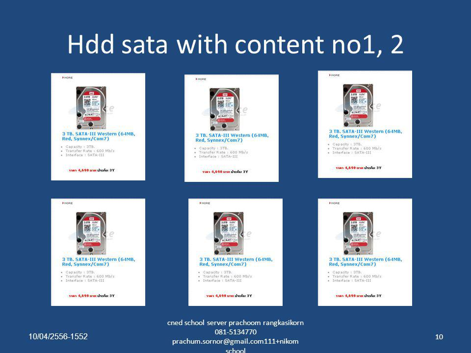 Hdd sata with content no1, 2