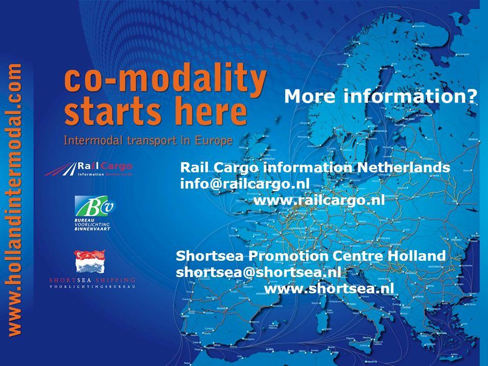 More information Rail Cargo information Netherlands info@railcargo.nl