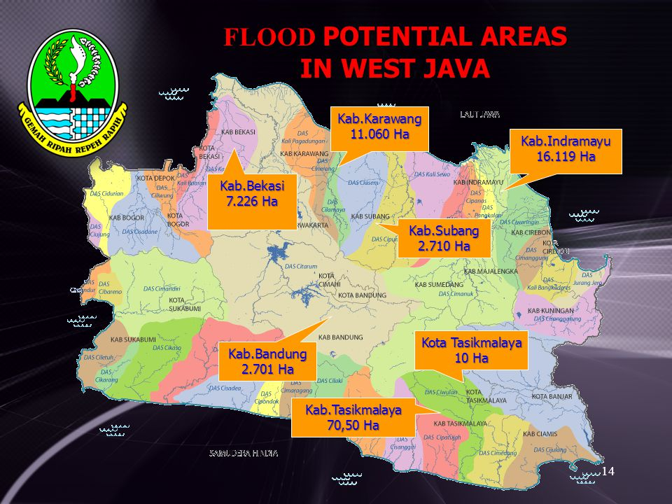 FLOOD POTENTIAL AREAS IN WEST JAVA Kab.Karawang 11.060 Ha